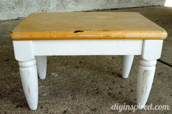 DIY Thrift Store Stool Makeover BEFORE
