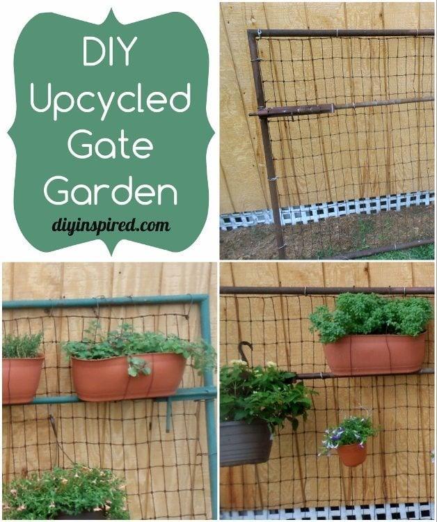 Diy upcycled garden gates diy inspired for Diy garden gate designs