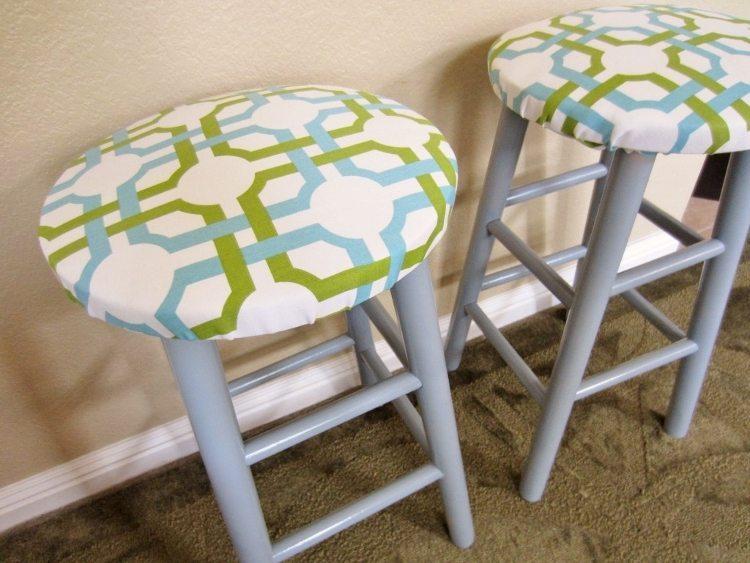 DIY Upholstered Bar Stools AFTER