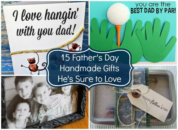 Father's Day Handmade Gifts He's Sure to Love -Handmade