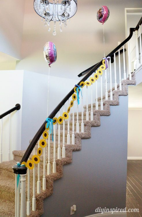 Frozen fever Party Decorations for Staircase