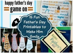 Fun Father's Day Printables to Make Him Smile - Gift Ideas