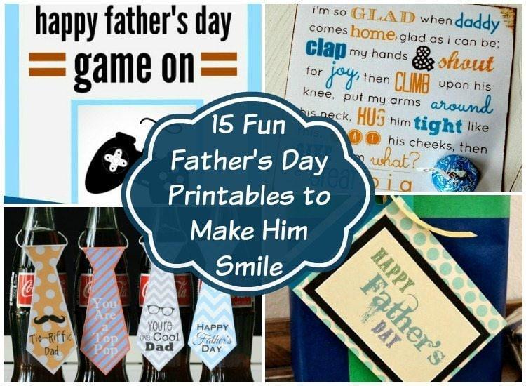 Fun Father's Day Printables to Make Him Smile - Gift Ideas