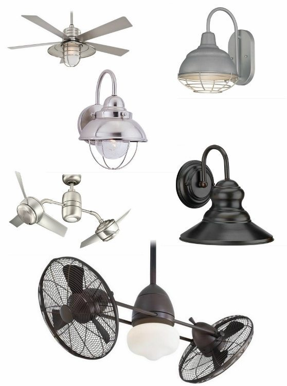 Industrial Outdoor Patio Fans and Lighting