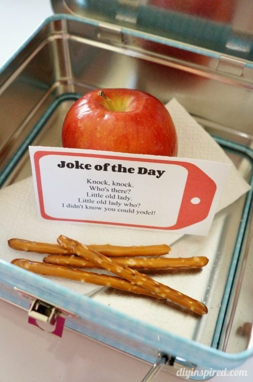 Joke of the Day Printable Lunch Box Notes