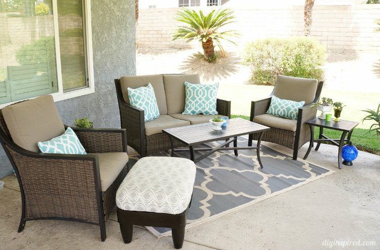 Patio Makeover Living Room Area