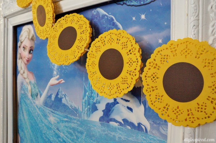 frozen fever party ideas with sunflowers diy inspired