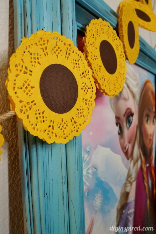Sunflower Banner for Frozen Summer Party