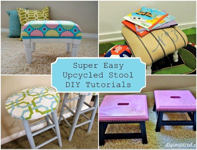 Super Easy Upcycled Stool DIY Tutorials
