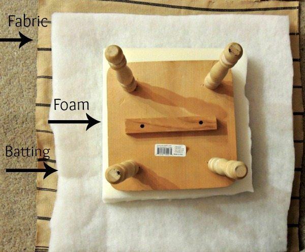 Upholstered Step Stool DIY BEFORE