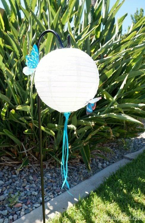 Blue Butterfly Party Lanterns DIY