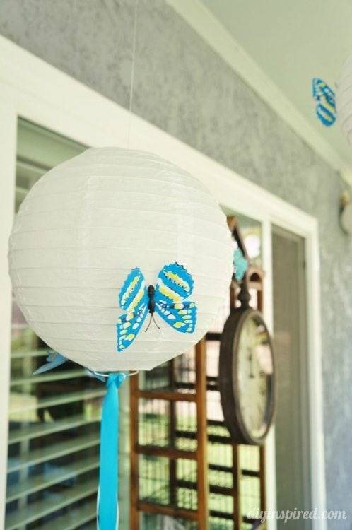 Blue Butterfly Party Paper Lanterns