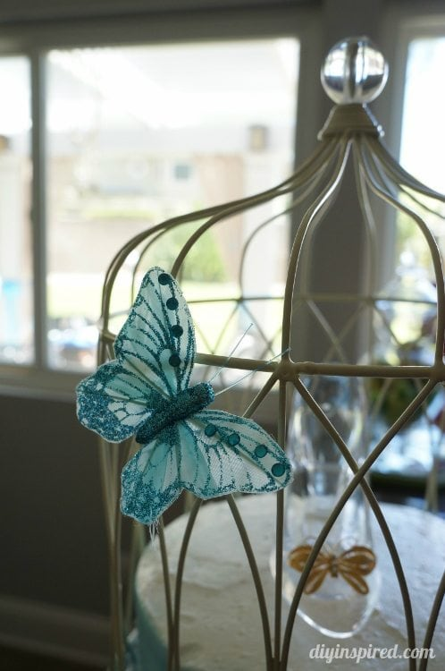 Cinderella Cake with Blue Butterflies