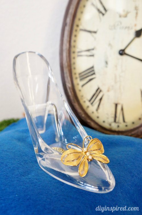 Cinderella movie diy glass slipper and pillow inspired