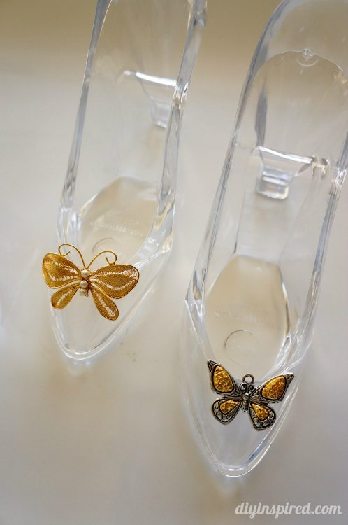 Cinderella Movie Glass Slipper with Butterfly