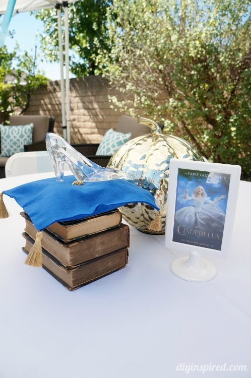 Cinderella Party Centerpieces with Glass Slipper
