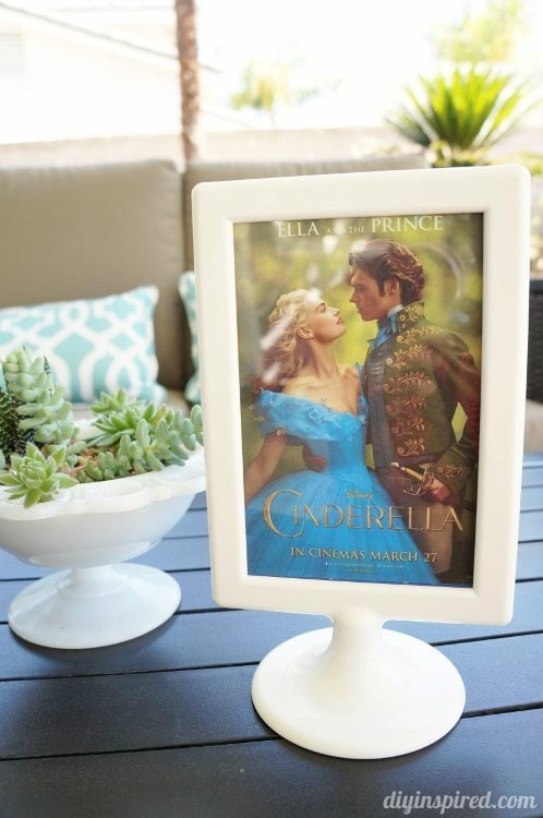 Cinderella Party Centerpieces with Movie Poster