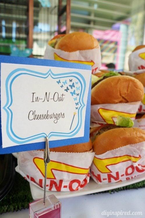 Cinderella Party Food Cheeseburgers