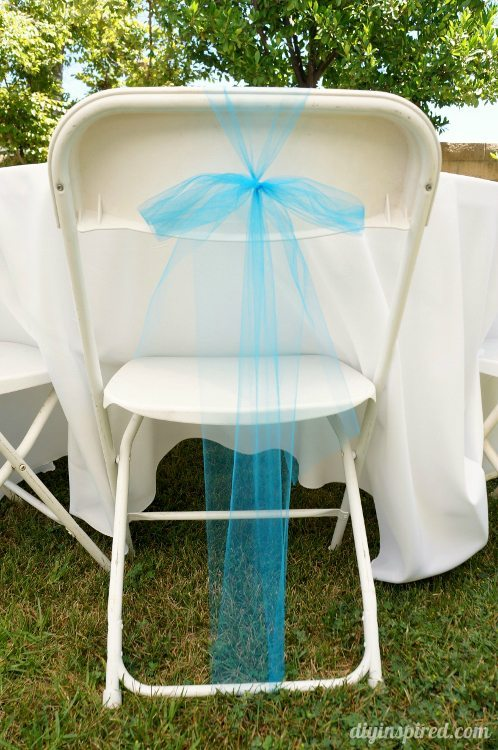 Cinderella Party Tulle Bow for Chairs