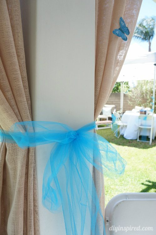 Cinderella Party with Butterflies and Tulle Bows