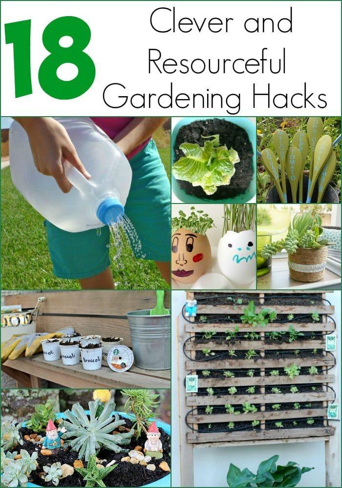 clever and resourceful gardening hacks diy inspired - Garden Hacks