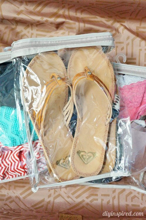 Packing Hacks  for Shoes and Intimates