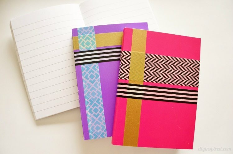 Washi Tape Notebooks for School