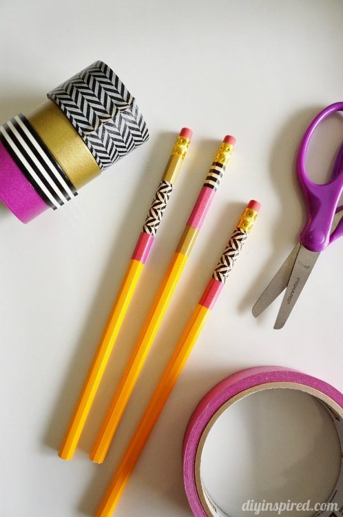 Washi Tape Pencils for School