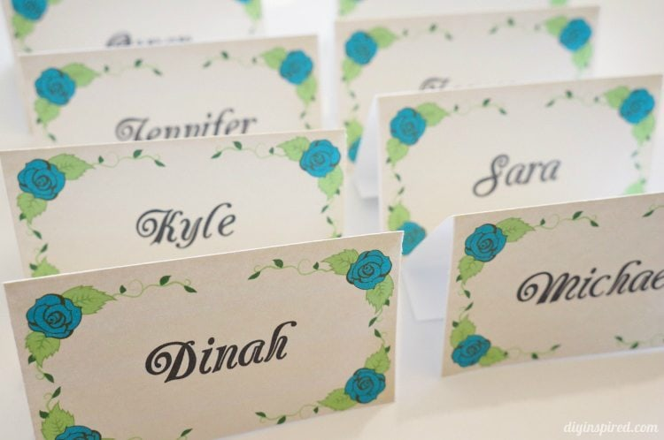 DIY Dinner Party Name Cards