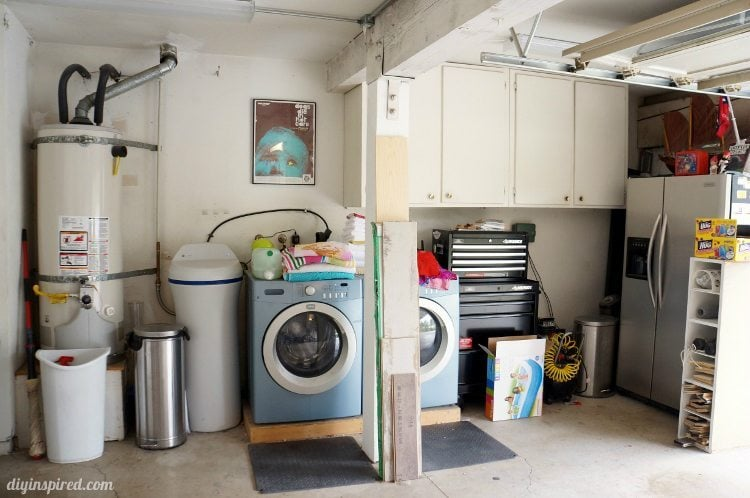 Garage Laundry Room Before