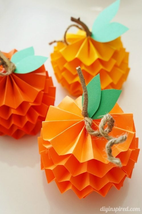 how to make paper pumpkins for fall diy inspired