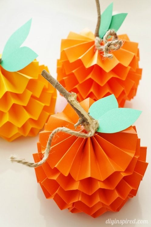 Paper Pumpkins for Fall DIY Inspired