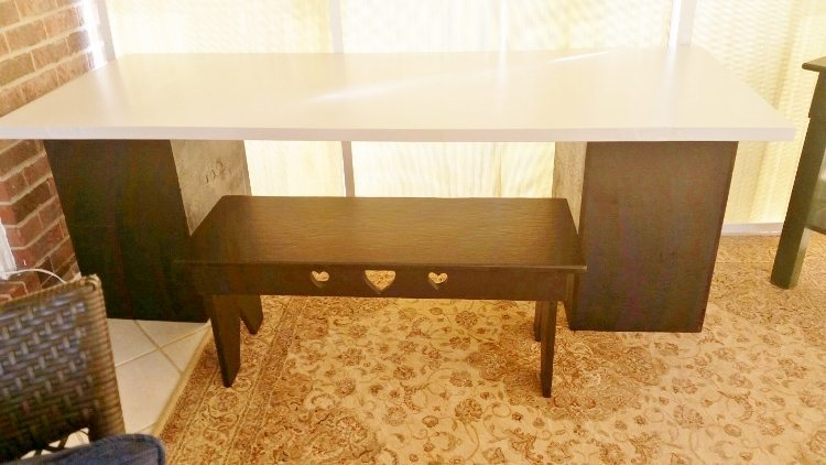 Repurposed Door Turned Desk After
