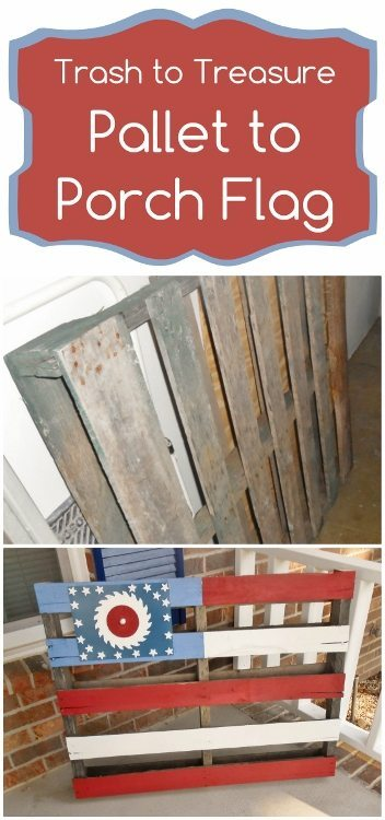 Trash to Treasure Pallet to Porch Flag