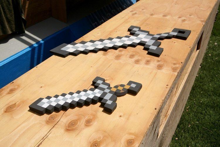 DIY Minecraft Swords