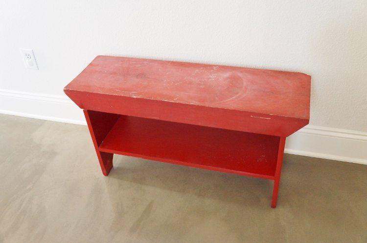 DIY Upholstered Bench Before