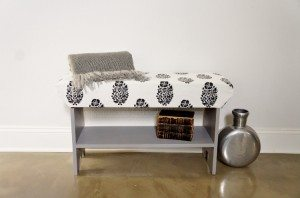 DIY Upholstered Wooden Bench DIY Inspired