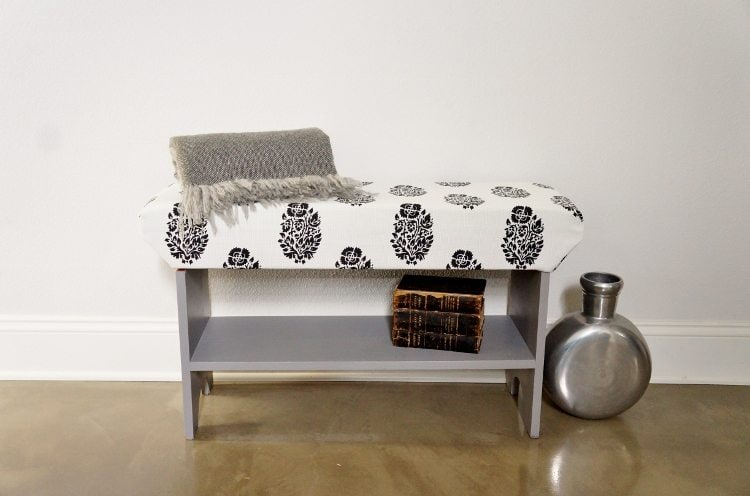 DIY Upholstered Wooden Bench DIY Inspired