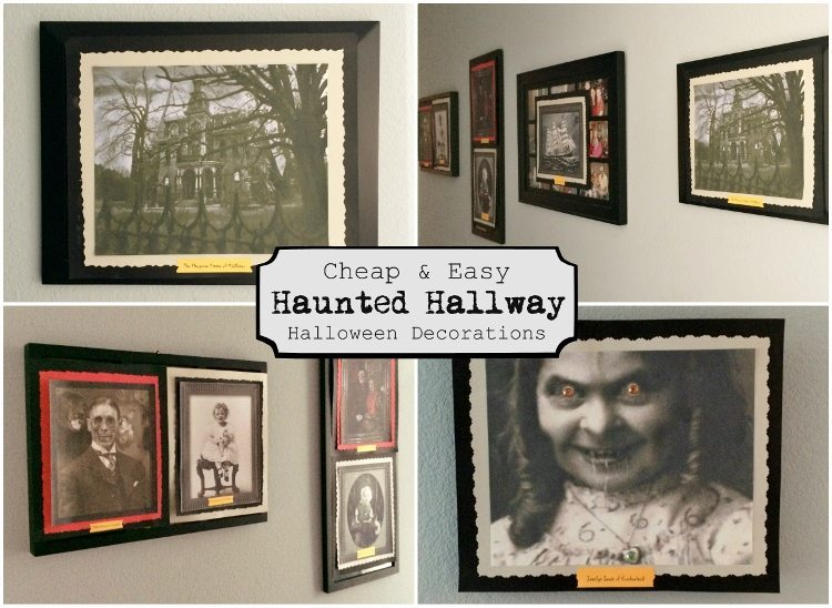 Cheap and easy haunted halloween hallway diy inspired for Haunted house hallway ideas