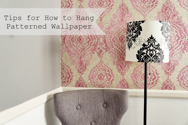 How To Apply Patterned Wallpaper Featured