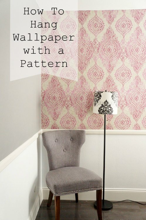 How to Hang Patterned Wallpaper DIY Inspired Featured