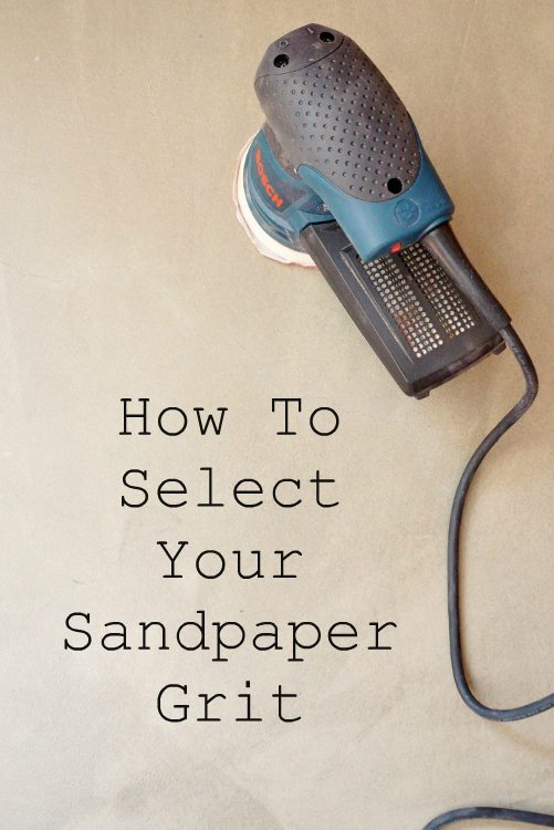 How to Select Your Sandpaper Grit DIY Inspired
