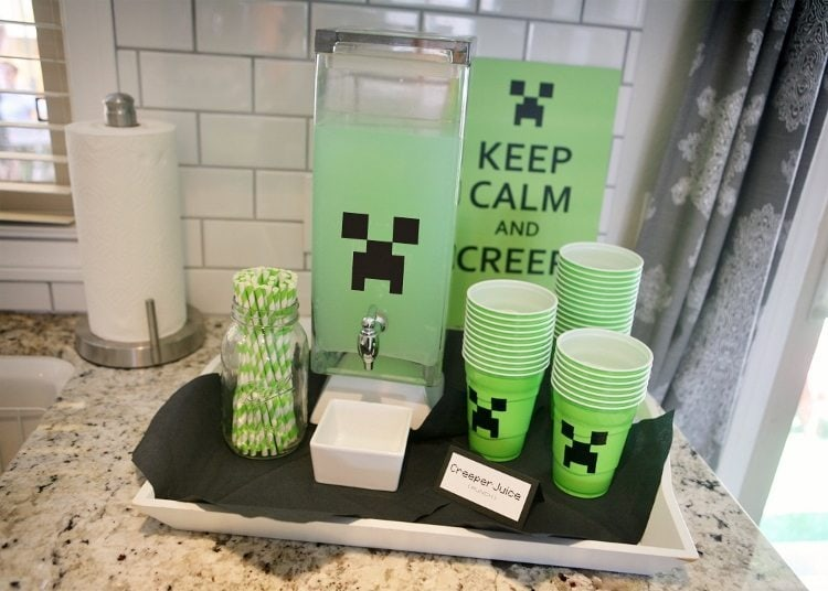 Minecraft Party Drinks