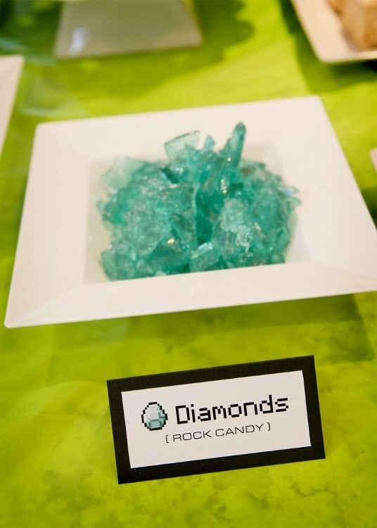 Minecraft Party Food Diamonds Rock Candy