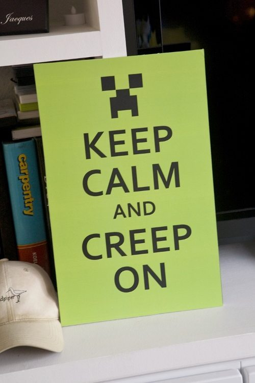 Minecraft Party Keep Calm