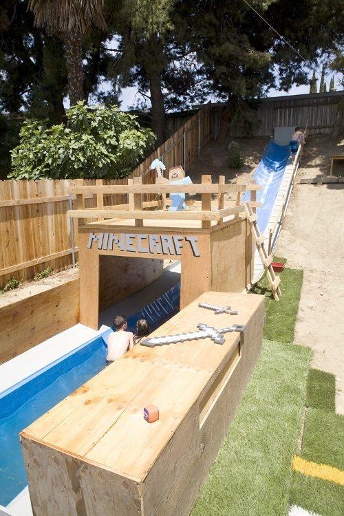 Minecraft Water Slide DIY