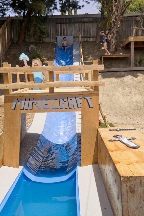 Minecraft Water Slide Tunnel