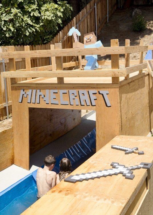 Minecraft Water Slide