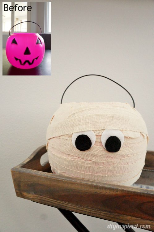 Plastic Trick or Treat Pumpkin Makeover