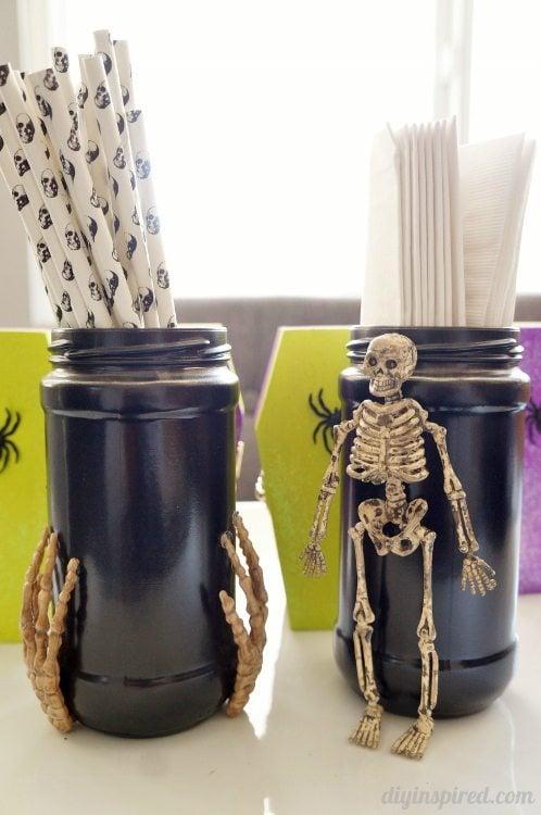 Recycled Halloween Mason Jars